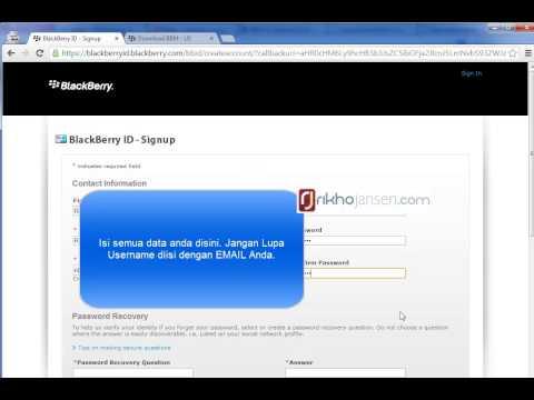 Cara Membuat Blackberry ID Untuk BBM For Android dan iOS