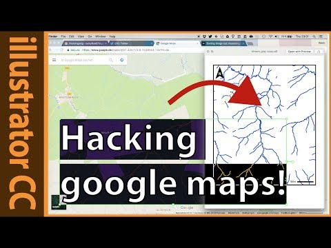 Extracting stream data from google maps with illustrator and photoshop CC