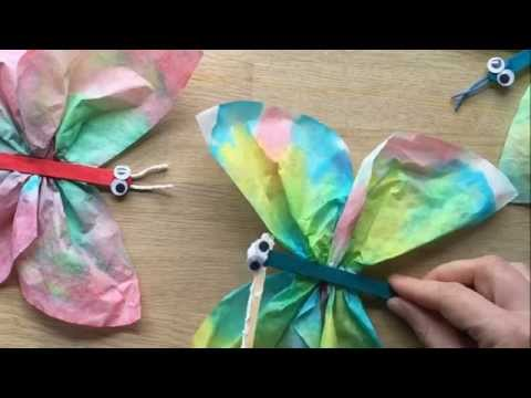 Coffee Filter Butterflies - use craft sticks, pipecleaners or pegs for the body