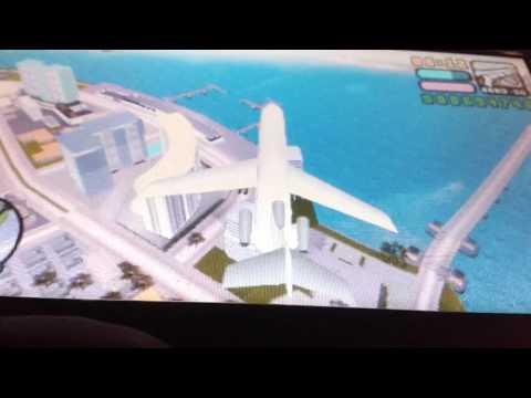 GTA VCS Flying witha big plane