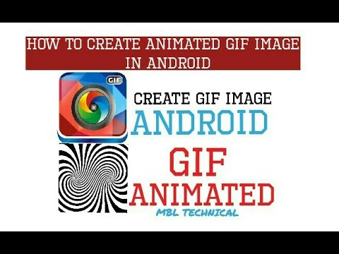 [Hindi] How to create animated gif image in Android form gif camera ! MBL TECHNICAL