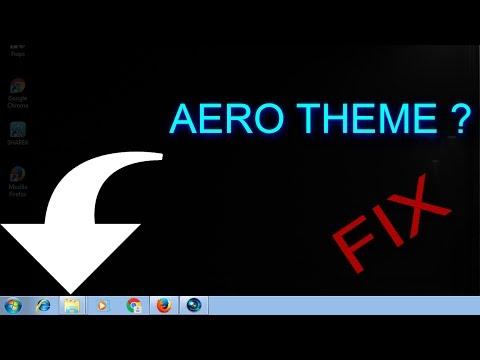 How to start the AERO Theme in Windows if it crashes?