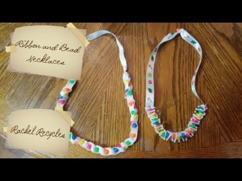 DIY How to make ribbon and bead necklaces