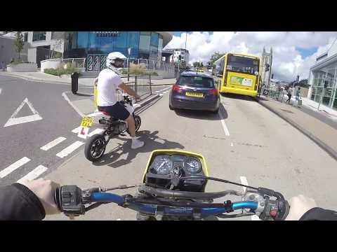 Road Legal Pit bike | Scared stupid driver!