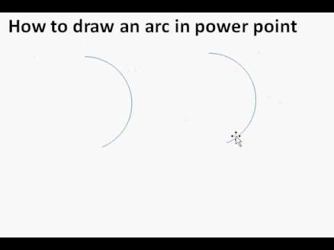 how to draw an arc in power point