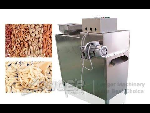Peanut Almond Badam Slivering Cutting Machine|Dry Fruit Strips Cutting Machine|Nut Slitting Machine