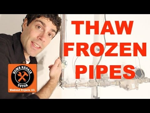 Thaw and Prevent Frozen Water Pipes -- by Home Repair Tutor
