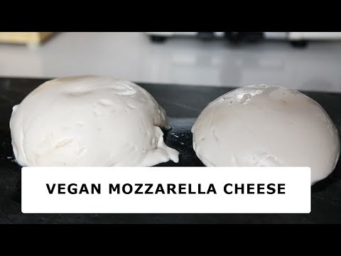 EASY and MELTY MOZZARELLA VEGAN CHEESE recipe ( HEALTHY )