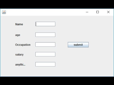 How to Create Simple DataEntry Form in Java Swing with Database  Part 1