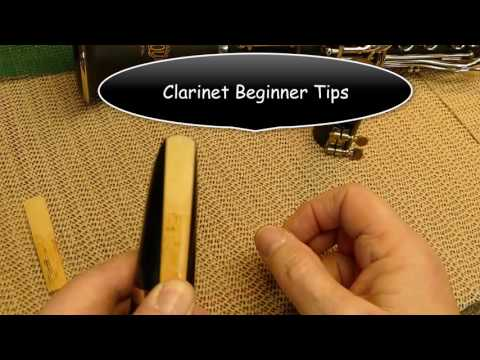 Beginner Clarinet tips Mouthpiece & Reed Assembly