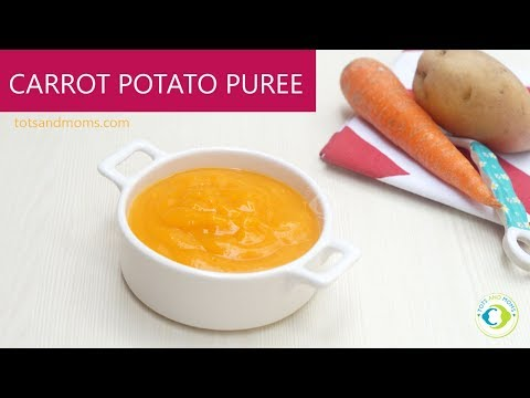 Carrot Potato Puree recipe for Babies | 6 months Baby Food Recipe