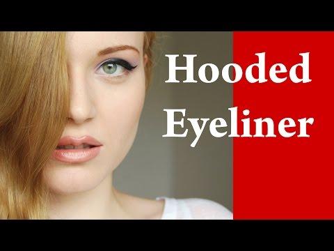 Eyeliner tricks for DOWNTURNED or HOODED eyes makeup video tutorial Part 1