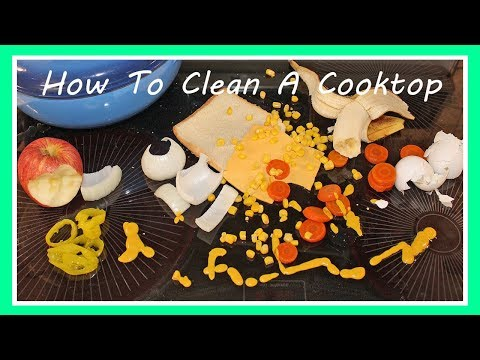 How To Clean A Glass Top Stove ~ Electric Range Cooktop