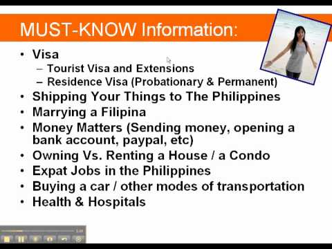 Moving to the Philippines | Tourist Visa and extension