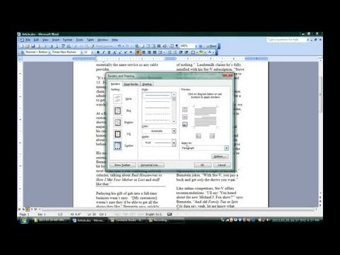 How to Make a Divider on Microsoft Word : Microsoft Office Software