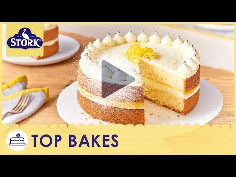 Zesty Lemon Celebration Cake Recipe Demonstration - Bake With Stork