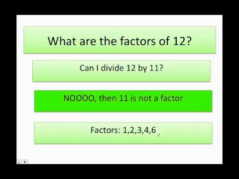 How to find the factors of a number