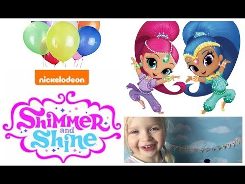 SHIMMER and SHINE Birthday Surprise Bathtime Fun Opening Toy Surprises Gifts