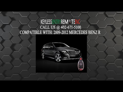 How To Replace A Mercedes R350 Class Key Fob Battery 2007 - 2012