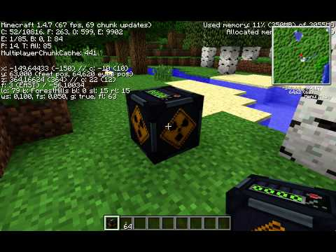 Minecraft | Tekkit | Macbook Pro Retina FPS Test | GT650M