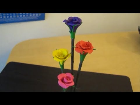 Diy -Modeling Clay Rose bunches