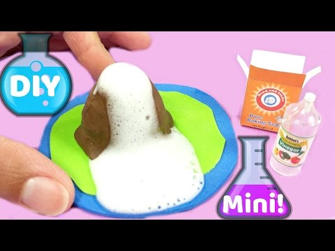 DIY Miniature Erupting Volcano & Supplies - Vinegar & Baking Soda - How to Make