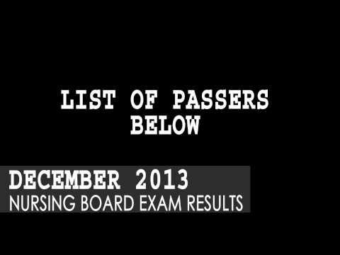 December 2013 Nursing Board Exam Results