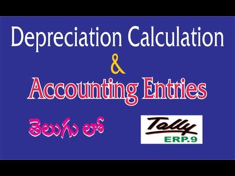 Tally ERP.9 --  || Accumulated Depreciation Entry || Depreciation Calculation
