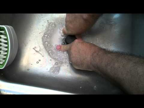 Clearing a stopped up sink with science