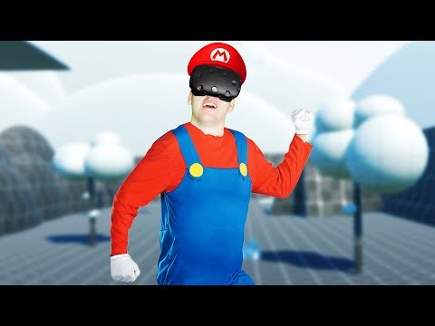 Rock Climbing with Mario! - Climbey Gameplay -  VR HTC Vive