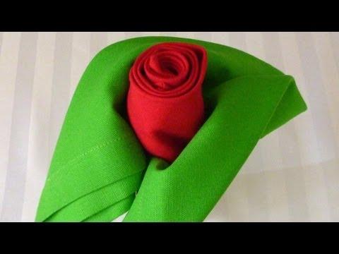 Napkin Folding - Rose