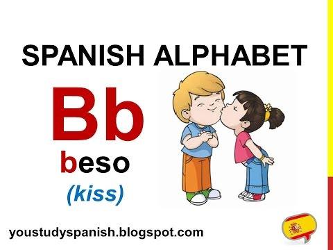 Spanish Lesson 1 - SPANISH ALPHABET pronunciation for kids ALFABETO español ABECEDARIO para niños