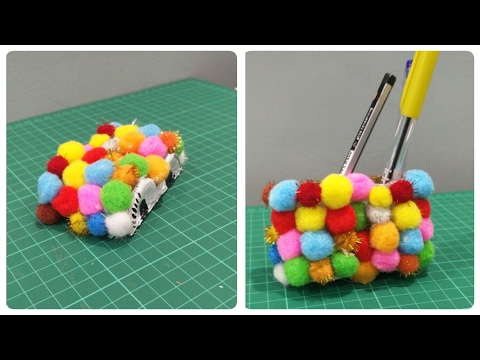 DIY- Mouse Wrist Pad cum Pen Stand| Yakult Bottle Art | Enjoy Crafting # 29