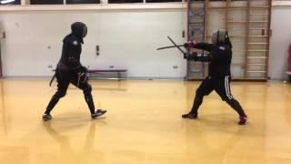Rapier and Dagger vs Katana and Wakizashi sparring. Tom vs Nick