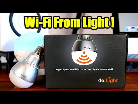 WiFi Hotspot LED Bulb !!! (de.Light review)
