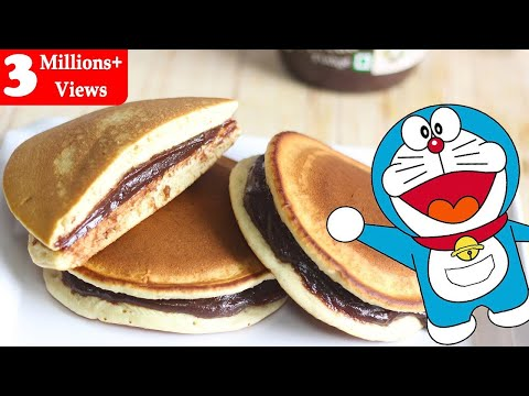 Dora Cakes Recipe In Hindi-Dorayaki-How To Make Dora Cakes-Kids Recipes-Doraemon Cakes-Ep-187