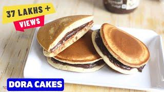Dora Cakes Recipe In Hindi-Dorayaki-How To Make Dora Cakes-Kids Recipes-Doraemon Cakes-Ep-187