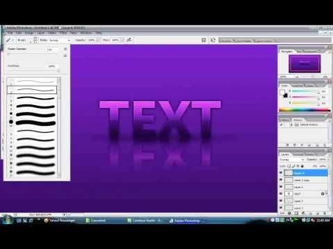 Tutorial Text with Photoshop CS2 - VirtualMan