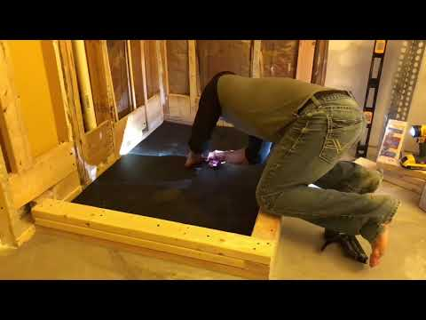How to install a shower pan pre-slope pre-pitch kit