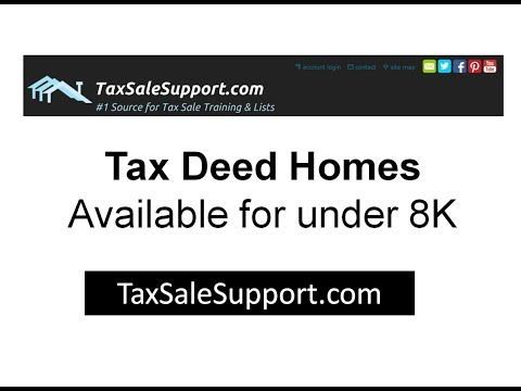 Tax Deed Homes for under $8,000 - Tax Sale Foreclosure Tutorial