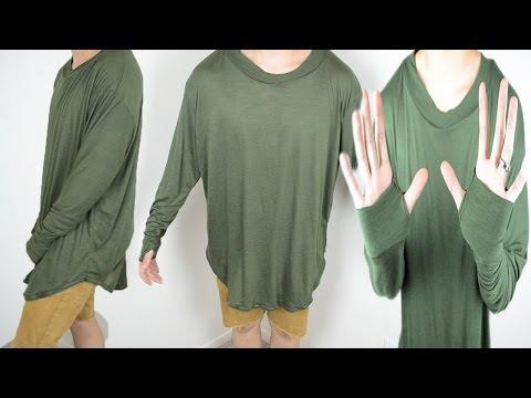 DIY: Long Sleeve T-Shirt Tutorial   From Scratch #24
