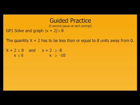 Solving and Graphing Absolute Value Inequalities