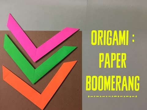 How to make an origami boomerang - super easy paper toys