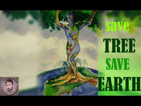 Mother Earth painting (Save Tree Save Earth)- by Sourav Saha