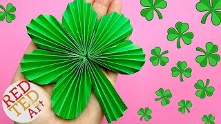 Paper Fan Shamrock Decoration-  Diy Paper Shamrock - Room Decor Or Diy St Patrick