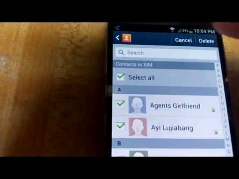 Galaxy S4 & S3: How to Delete Contacts Off Sim Card