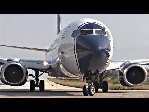 Boeing 737-800 Takeoff JETBLAST & CRAZY DRIVER!   Skiathos Airport Plane Spotting   2nd St Maarten
