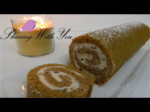 Pumpkin Roll Cake from