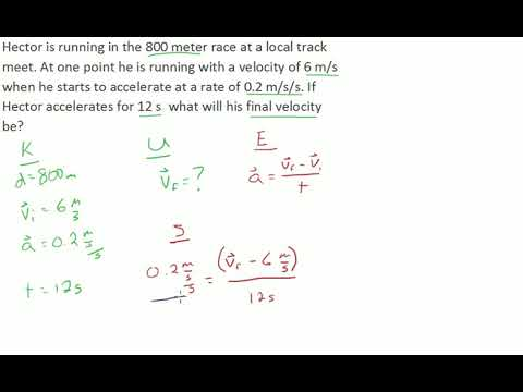 Acceleration solving for final velocity