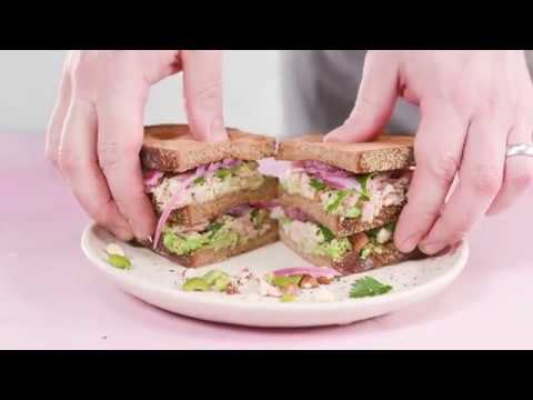 Tuna, Avocado, and Pickled Onion Sandwich | Cooking Light